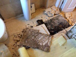 water damage sheffield bathroom